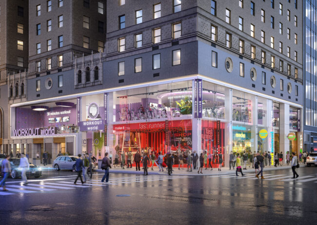 761 7th ave rendering in Time Square