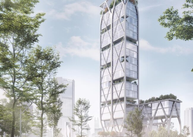 High rise Ecology rendering by Radical Galaxy Studio