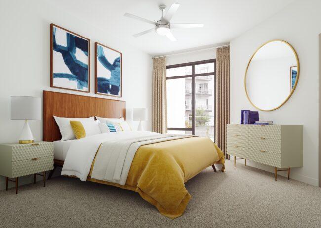Multi Family bedroom rendering created for Cortland Westshore