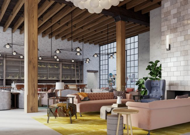 Marriott Autograph Hospitality Rendering Montgomery rendered by Radical Galaxy Studio