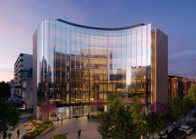 1771 N Exterior Rendering in Washington DC created by Radical Galaxy Studio for Stream Realty