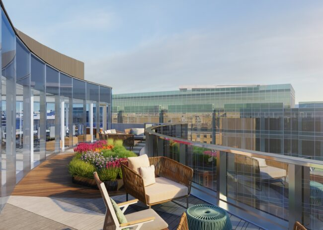 1771 N Rooftop Rendering in Washington DC created by Radical Galaxy Studio for Stream