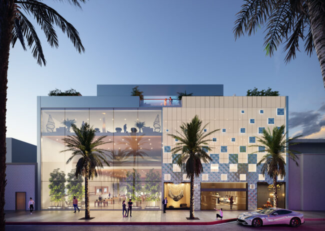 360 N Rodeo Drive Retail Rendering created by Radical Galaxy Studio, used to market a property.