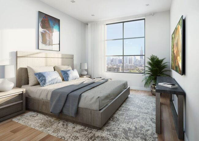Bedroom Rendering created by radical galaxy studio in Chicago