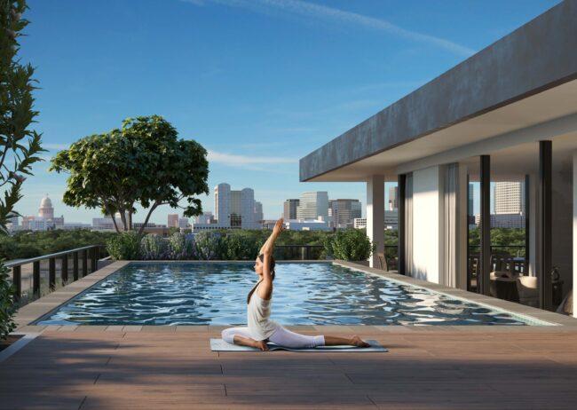 Yoga Rendering in Austin Texas created by Radical Galaxy Stdio