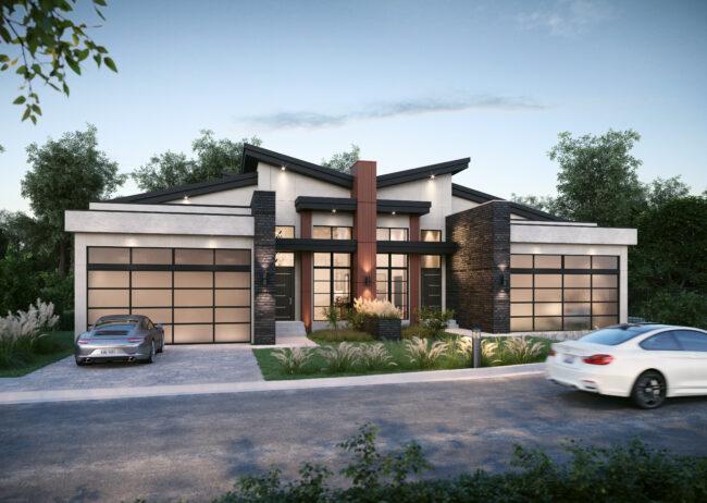 Exterior Single Family Home still rendering Calgary Canada