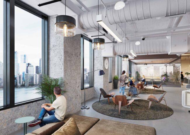 Commercial Real Estate Rendering of 70 Hudson for Spear Street