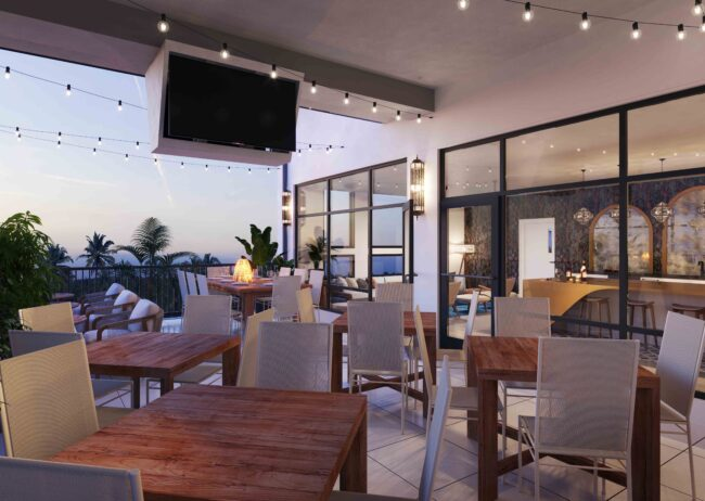 Rooftop Lounge Rendering Multifamily for Champions Gate
